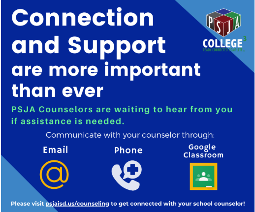 Connection and Support by School Counselors