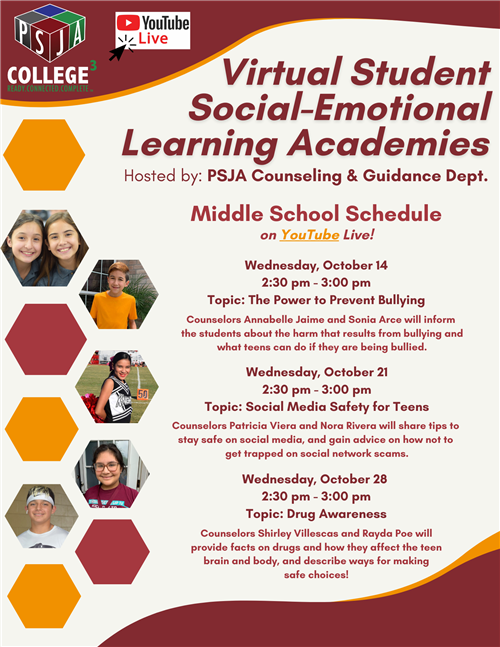 PSJA Virtual Student Social-Emotional Learning Academies