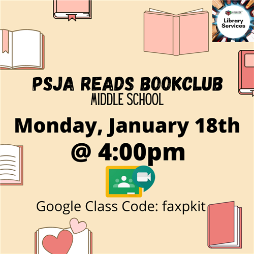 PSJA Book Club for Middle School