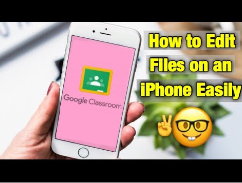 Google Classroom App: Edit files and submit work using DocHub on Iphone: