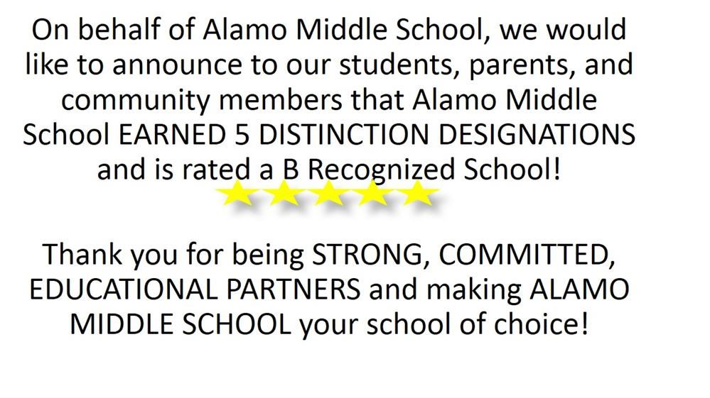 Congratulations Alamo Middle!