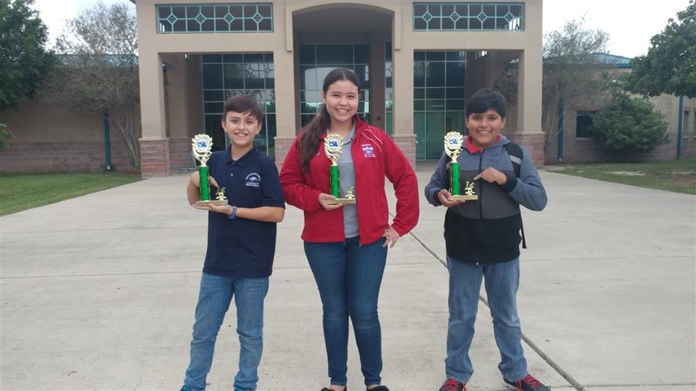 On December 2, 2017 at Audie Murphy, UIL meet, Spanish poetry students competed against 24 middle schools. They obtained first place trophies in each grade level. 6th grader Diego Rebollo  7th grader Camila Garza 8th grader Rafael López