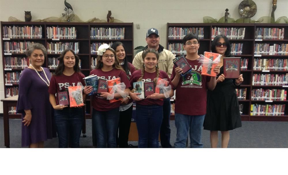 Liberty Middle School students get 1st Place in the 7th Annual PSJA Battle of the Books Competition.
