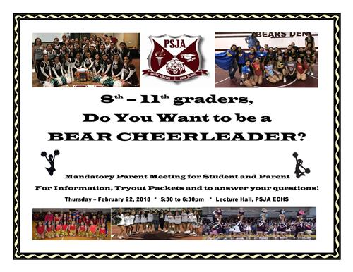 Do you Want to be a BEAR CHEERLEADER?