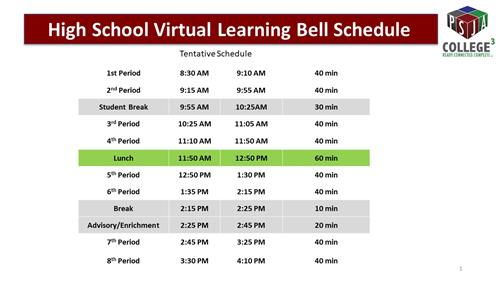 VIRTUAL BELL SCHEDULE