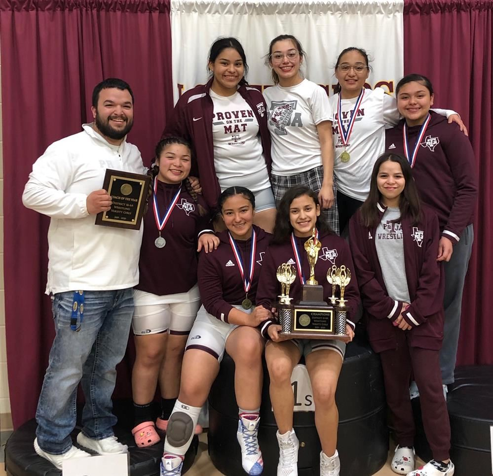 PSJA LADY BEARS  Wrestling District Champions