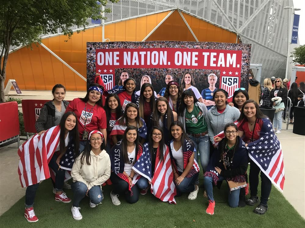 Lady Bears trip to watch the U.S. Women's National Team vs Mexico
