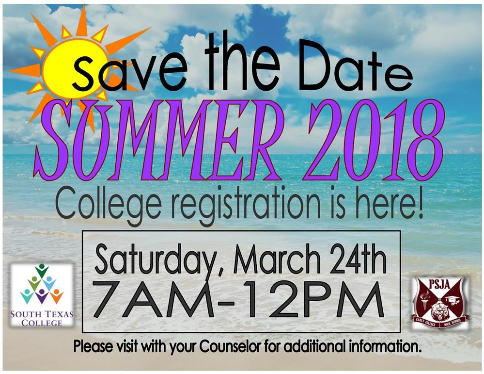Summer 2018 College Registration is here!!