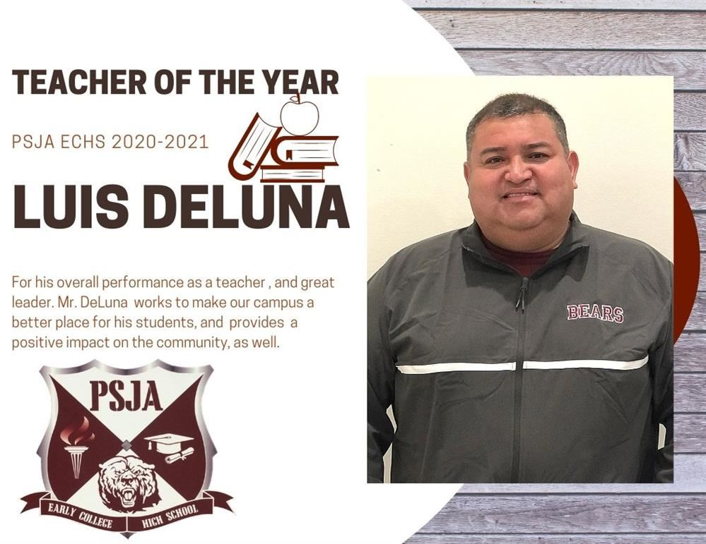 PSJA ECHS TEACHER OF THE YEAR 2020-2021