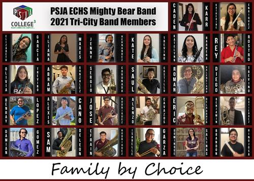 MIGHTY BEAR BAND 2021 TRY-CITY BAND MEMBERS