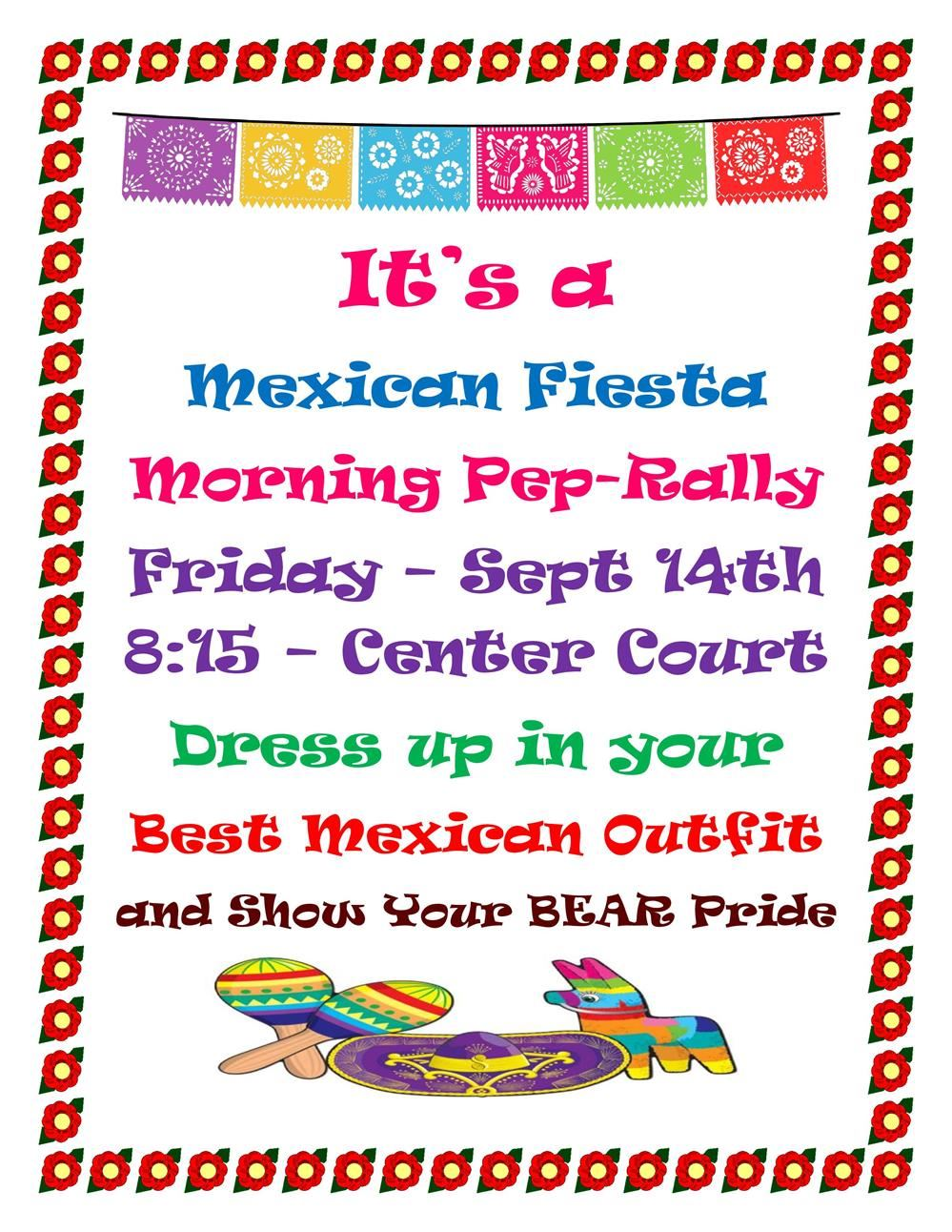 Mexican Fiesta Friday Pep-Rally
