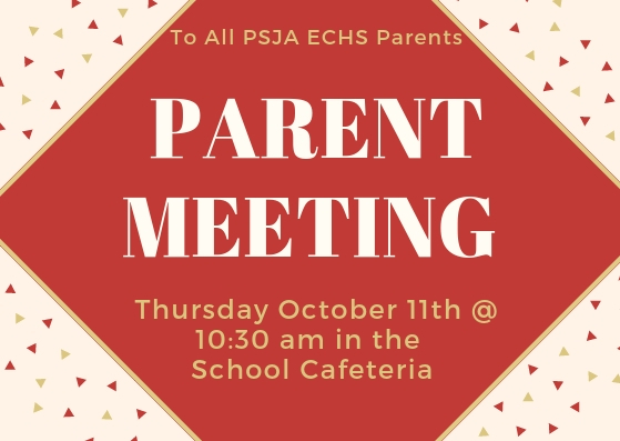 Counselor's Cafe Meeting: ATTENTION ALL PSJA ECHS PARENTS