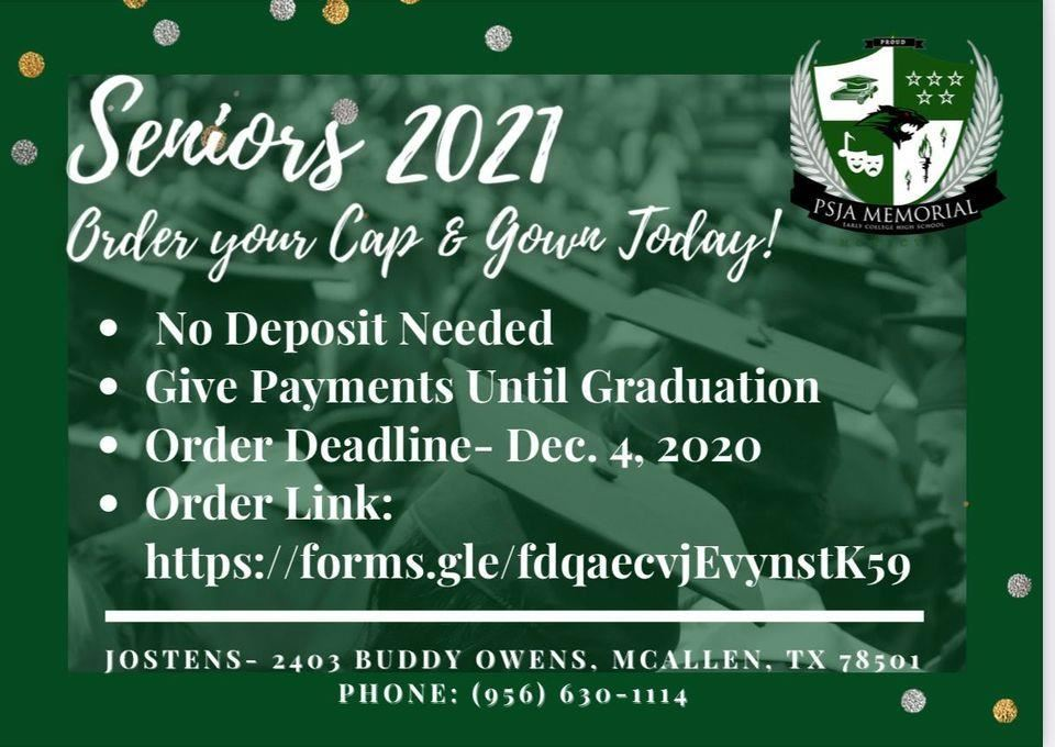 CLASS OF 2021: Order Cap and Gown Here