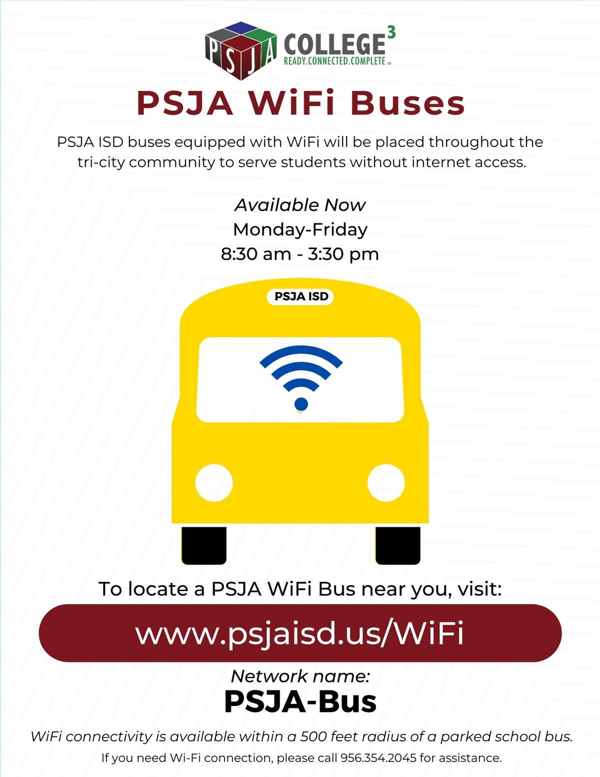 PSJA ISD WiFi buses are now available!