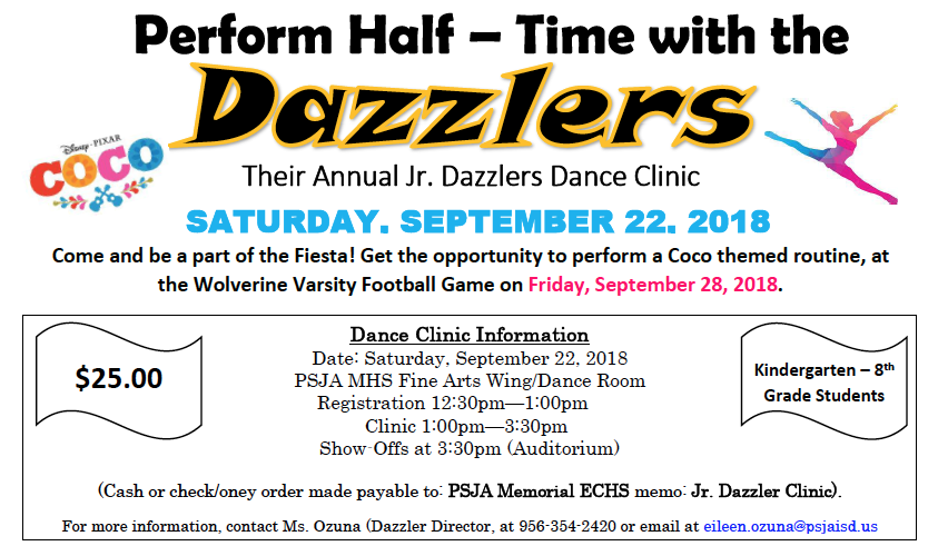 Be a Jr. Dazzler!