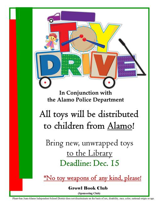 Toy Drive: Help Needed