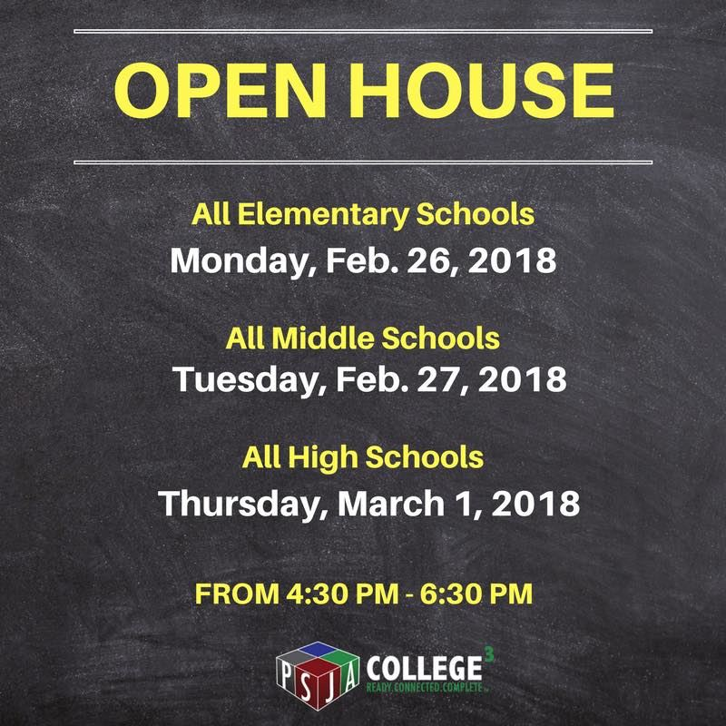 Open House Thursday 4:30 PM to 6:30 PM.