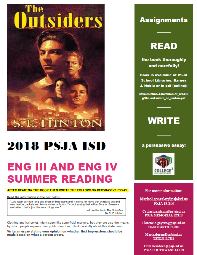 English III and English IV Summer Reading