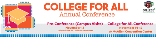 College for All Conference Banner