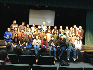 author visit at Memorial High School