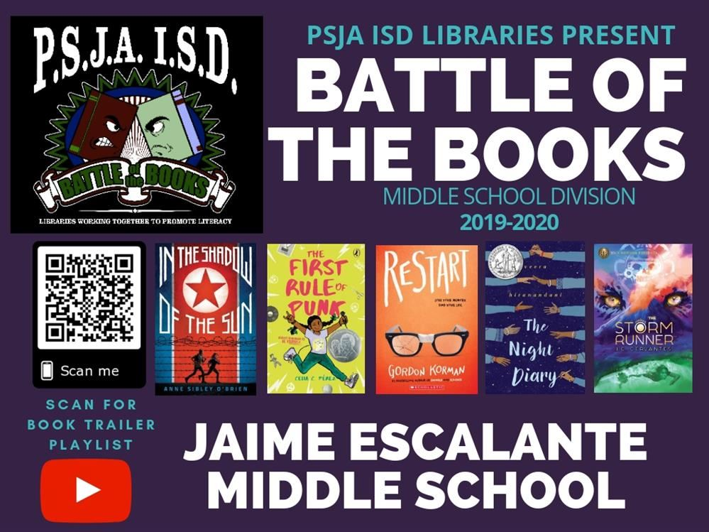 2020 Reading List.2019 2020 Battle Of The Books Middle School Reading List