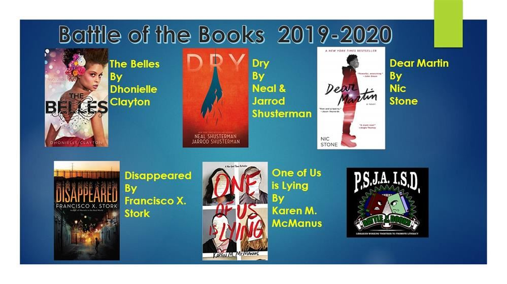 Battle of the Books 2019-2020 Titles
