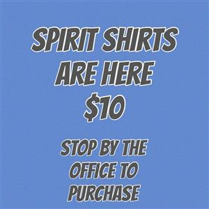 spirit shirts are here