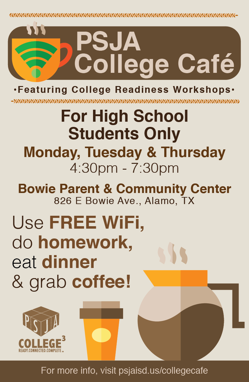 PSJA College Cafe Poster