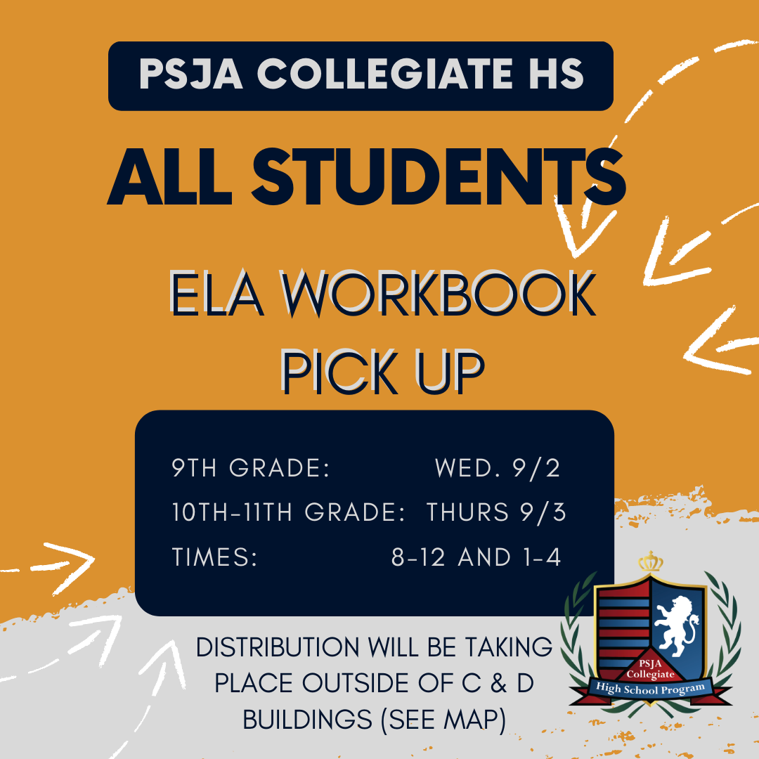 ELA Workbook Pick Up- All Students