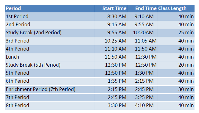 4/19/21 Revised Virtual & In Person Bell Schedule