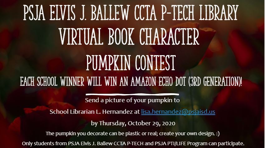 Virtual Character Pumpkin Decorating Contest Winners