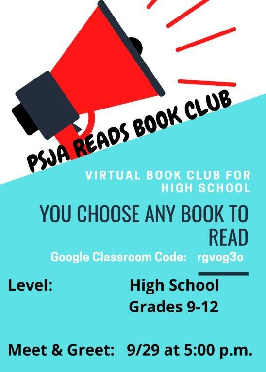 High School Book Club Flyer