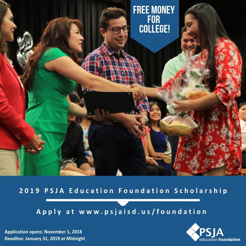 PSJA Education Foundation Scholarship Flyer