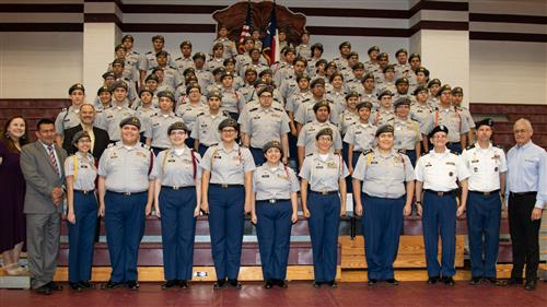 The PSJA Early College High School Junior Reserve Officers Training Corps (JROTC) Bear Battalion was recognized by district