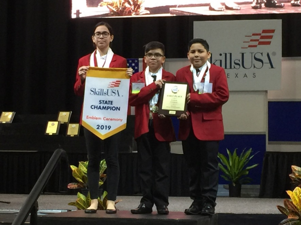 PSJA ISD middle school students named SkillsUSA State Champions, advance to Nationals