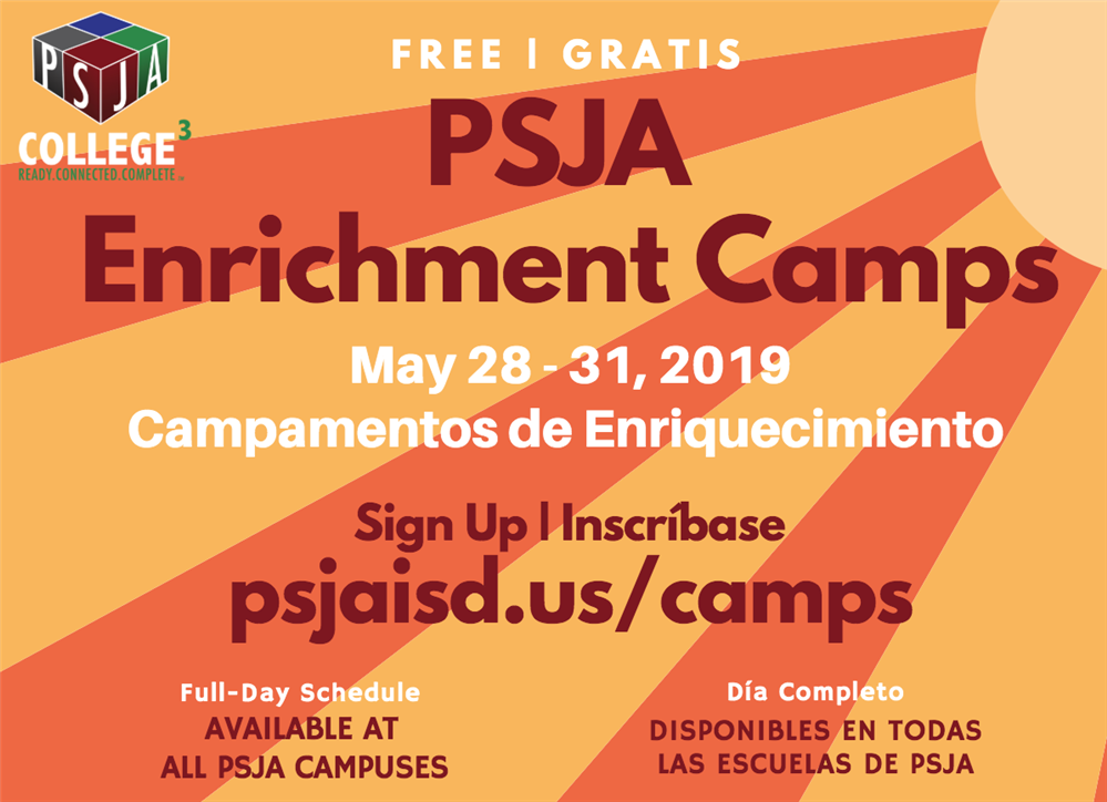 PSJA ISD to offer free enrichment, sports summer camps