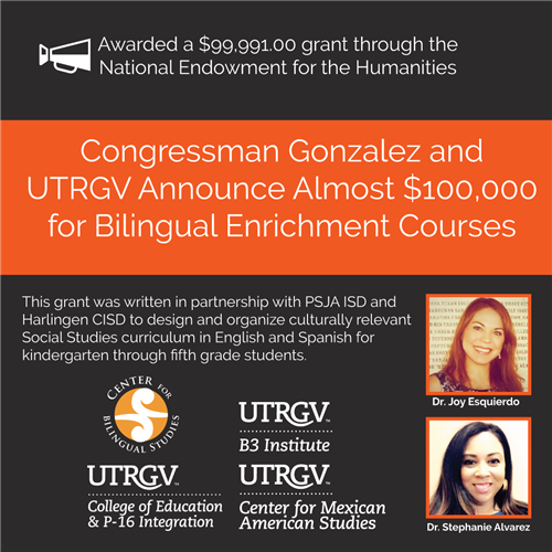 UTRGV, PSJA ISD, Harlingen CISD awarded nearly $100K for bilingual enrichment courses
