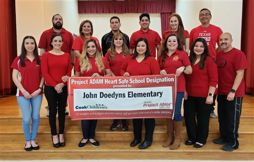 PSJA ISD honored with Project ADAM Heart Safe School District National Designation