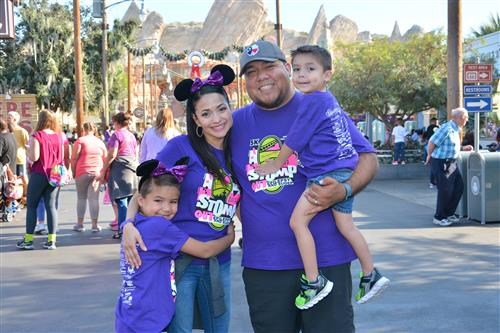 Yvette Barrera-Molina and her family at Disneyland during Epilepsy Awareness Day.