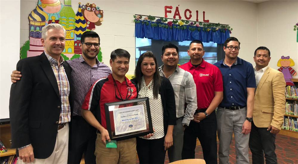 Rodolfo Reyes, a 5th-grade science teacher at John McKeever Elementary in Pharr-San Juan-Alamo ISD (PSJA), recently became th