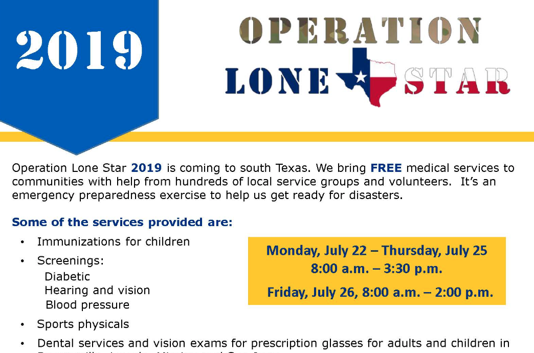 Free medical services offered during Operation Lone Star 2019