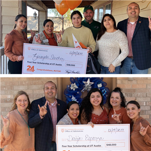 Two PSJA students surprised at their homes with $48,000 checks