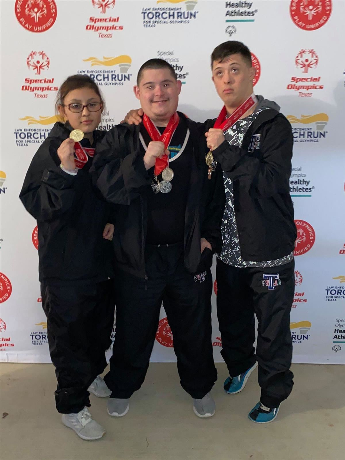Two PSJA ISD students win State Championship at Special Olympics Powerlifting Competition