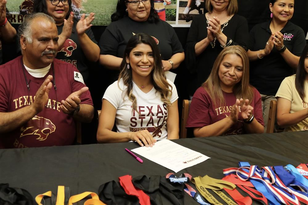 PSJA North Athlete, to cheer for Texas State University