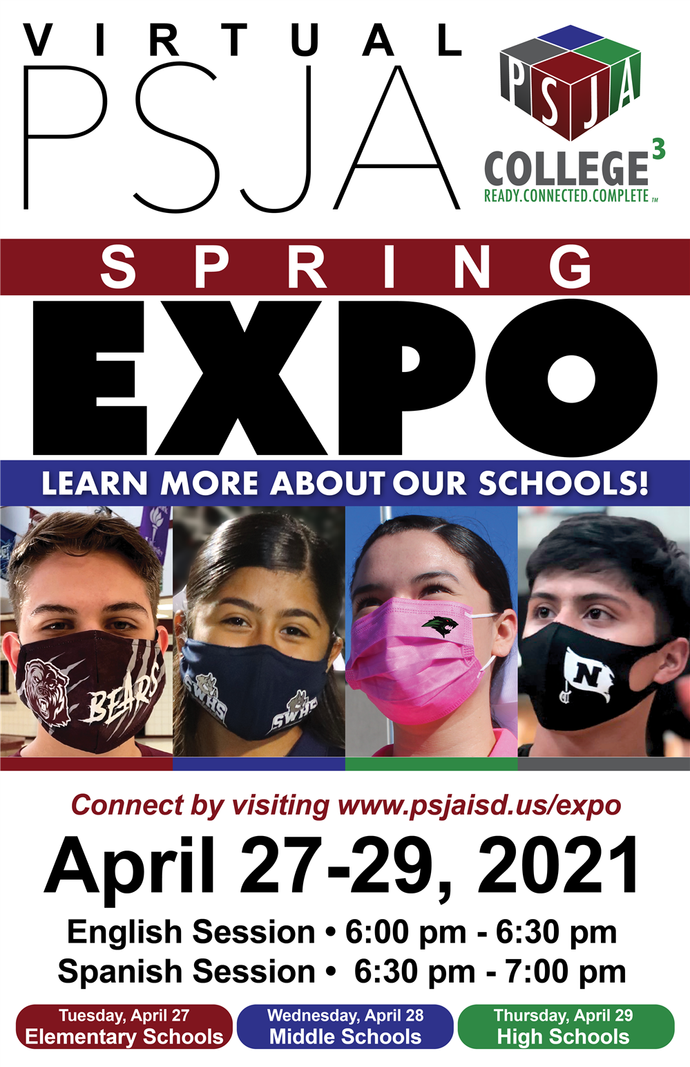 2021 PSJA Spring Virtual EXPO is happening on April 27 - April 29 !