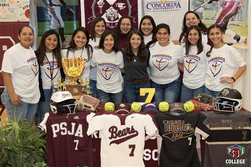 PSJA Lady Bear signs with Concordia University Texas to continue softball career