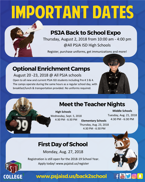 PSJA Back to School Expo