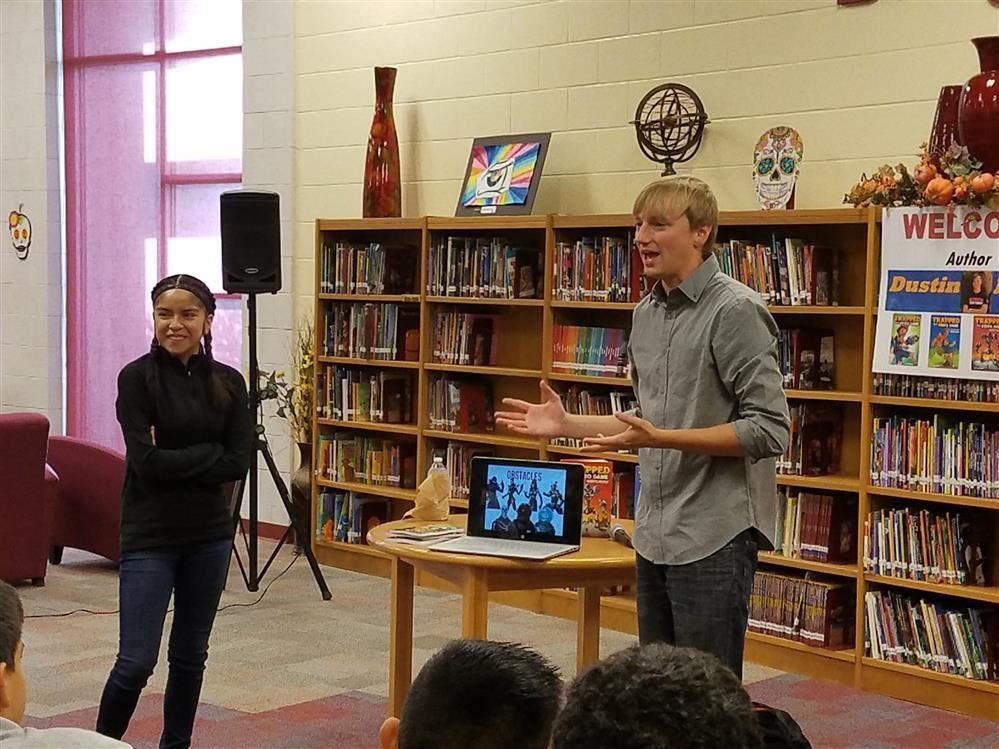 Author Dustin Brady visits Austin Middle