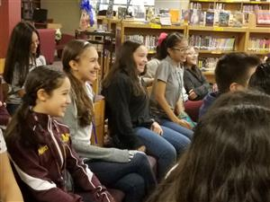 7th Grade Students during author visit.
