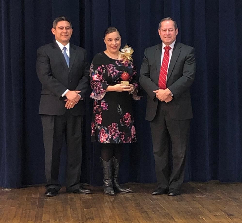 Congratulations to Marissa Cavazos for being Teacher of the Year at Austin Middle School!